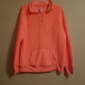 Soft plush pullover